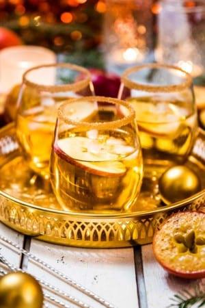 Juldrink med äpple och whisky