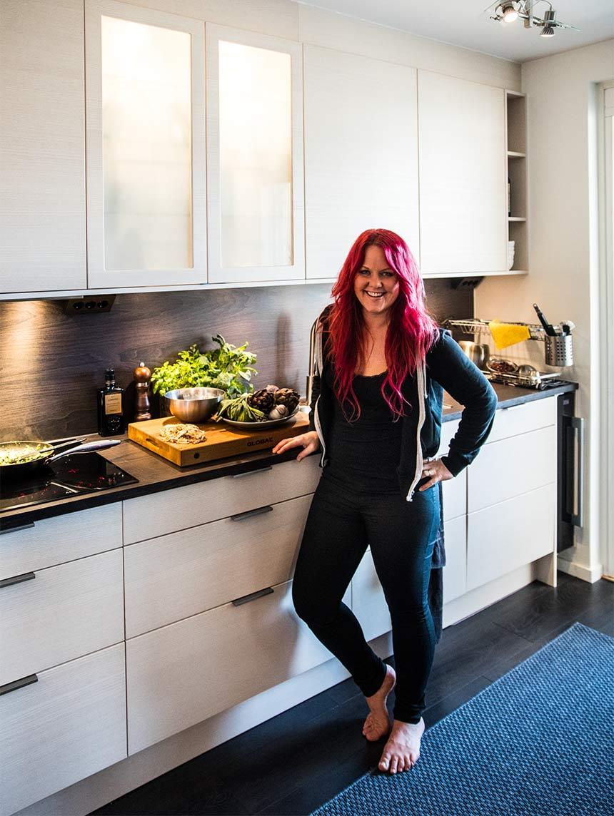 Madeleine Landley i kök från Electrolux Home
