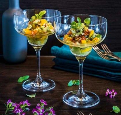 Ceviche med mango, avocado och lime