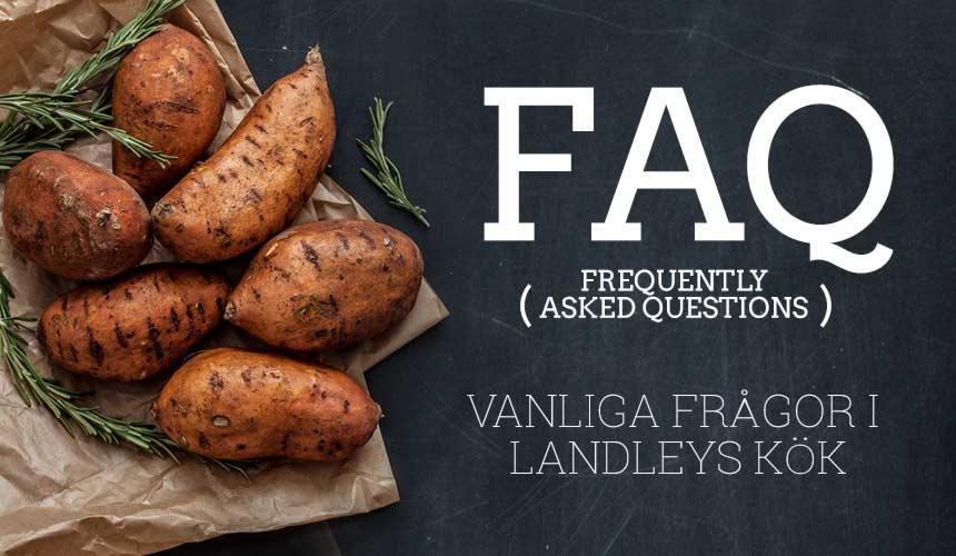 FAQ: Vanligt förekommande frågor