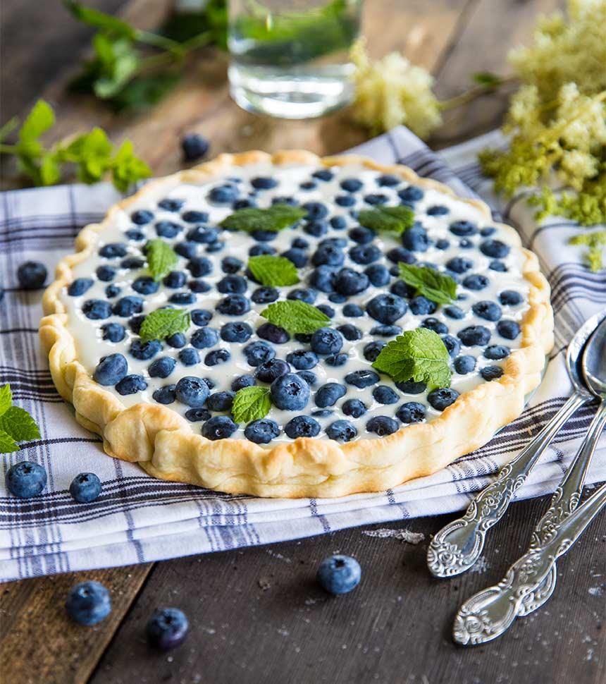 blåbärspaj utan ägg