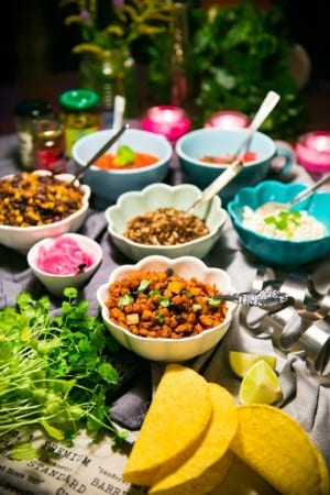 Vegotacos med sötpotatis och friterade linser