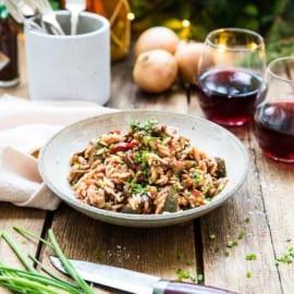Grönsaksgryta med aubergine och zucchini