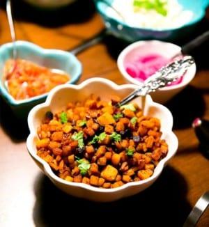 Kryddiga sötpotatistärningar