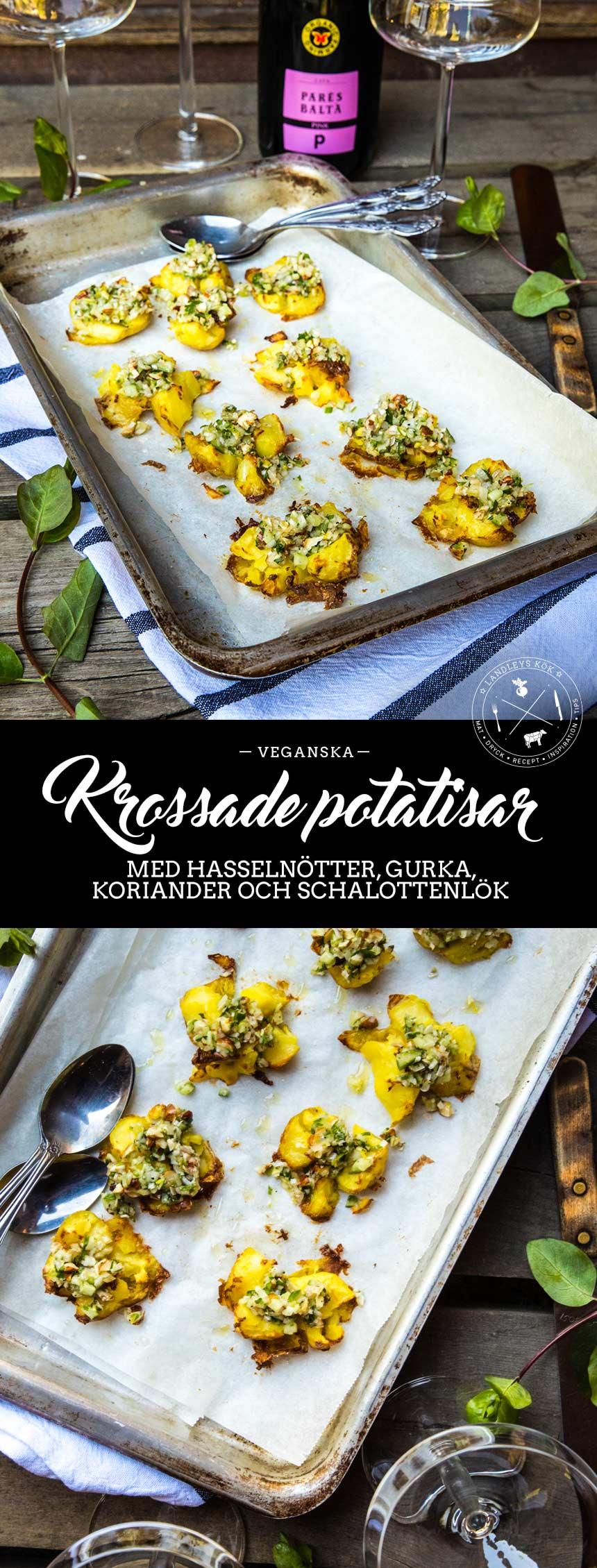 Krossade potatisar med vegansk topping (obs lägg upp bilder från resor!)