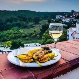 Mat på Bella Vista Beach Club Sinemoretz Bulgarien 2018