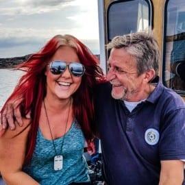 Madeleine Landley och Lars Marstone på Lysekils Ostron & Musslor