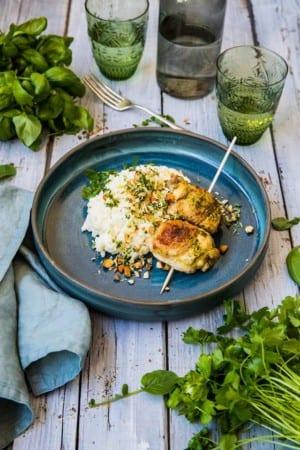 Kyckling med dijonsenap, potatismos och knaprig gremolata