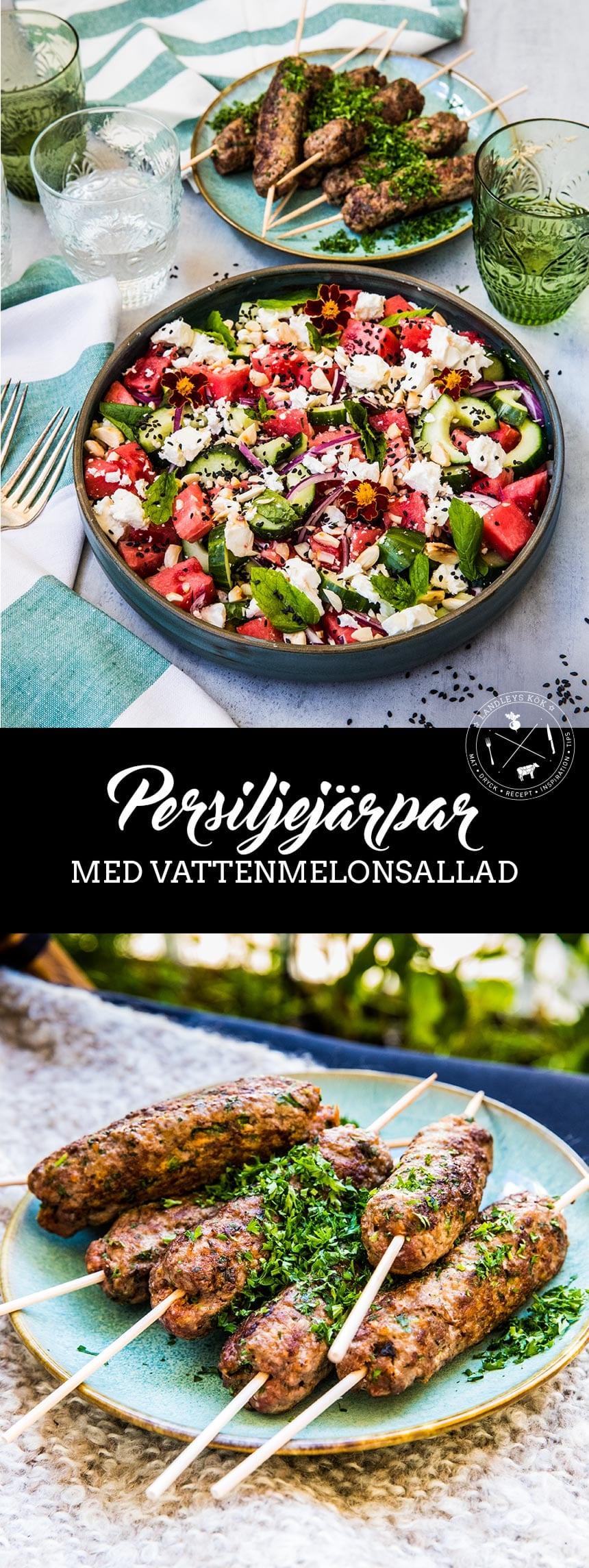 Persiljejärpar med vattenmelonsallad