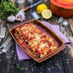 Vegetarisk cannelloni med linser, spenat och ricotta