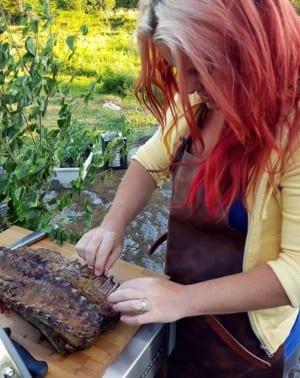 Madeleine Landley grillar lammrygg