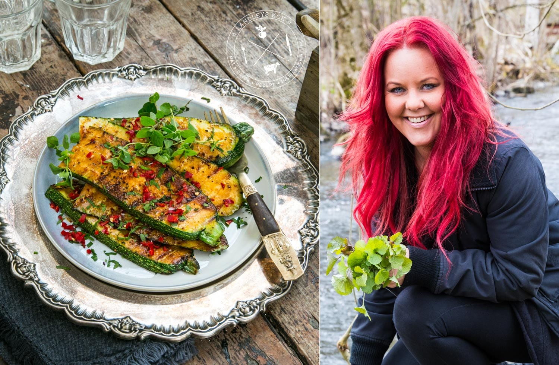 Laga Madeleine Landleys goda grillade zucchini med curry och chili
