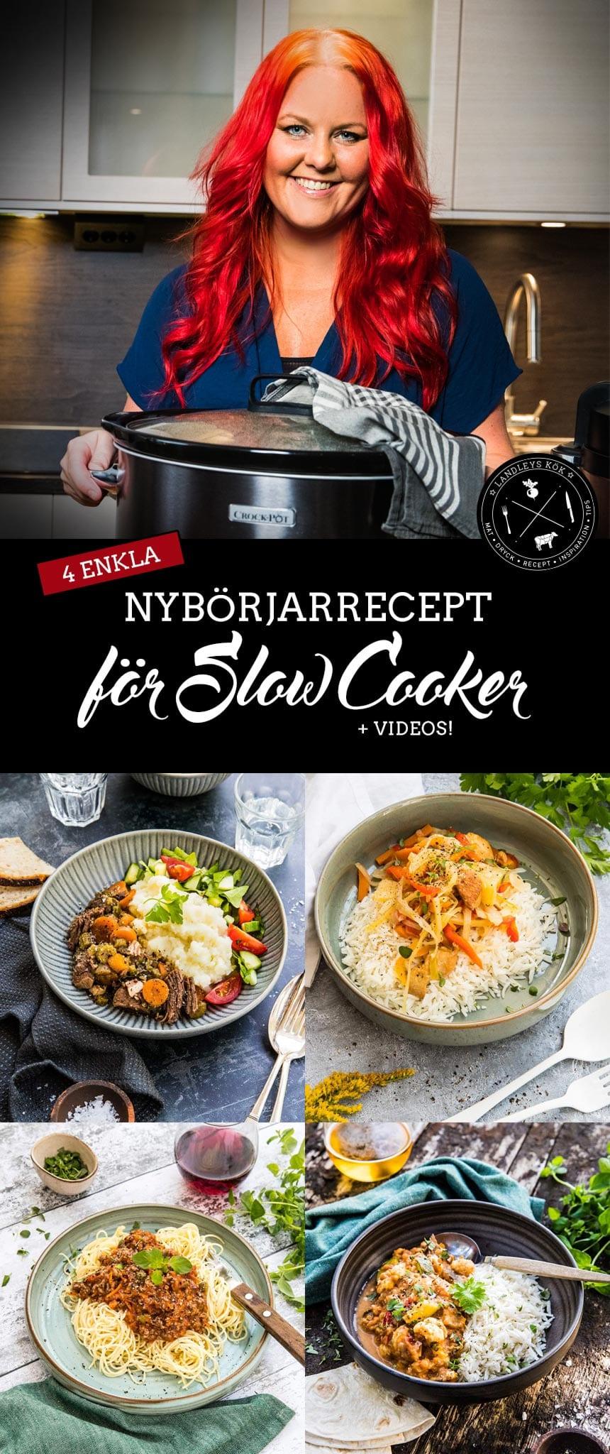 4 enkla nybörjarrecept för slow cooker
