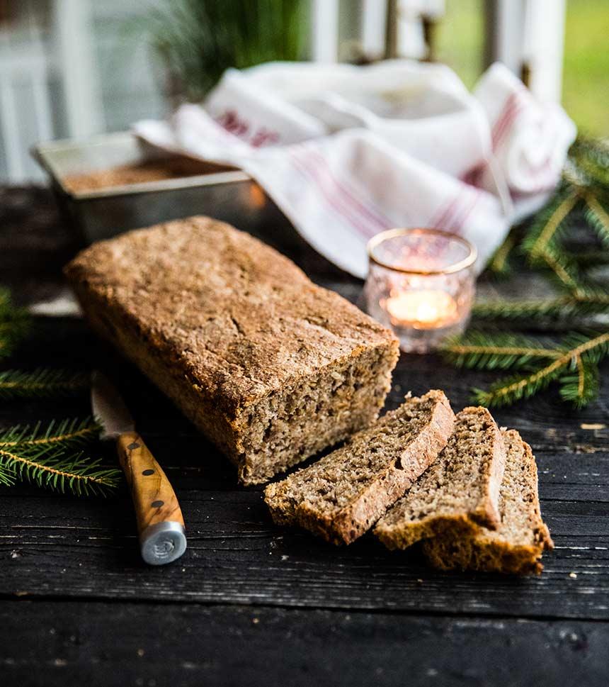 Danskt rågbröd med surdeg