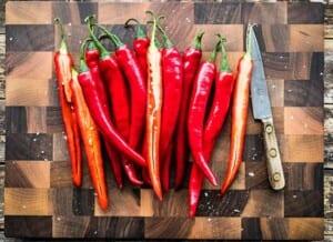 Recept på hemmagjorda chiliflakes i ugn
