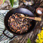 Refried beans i ugn