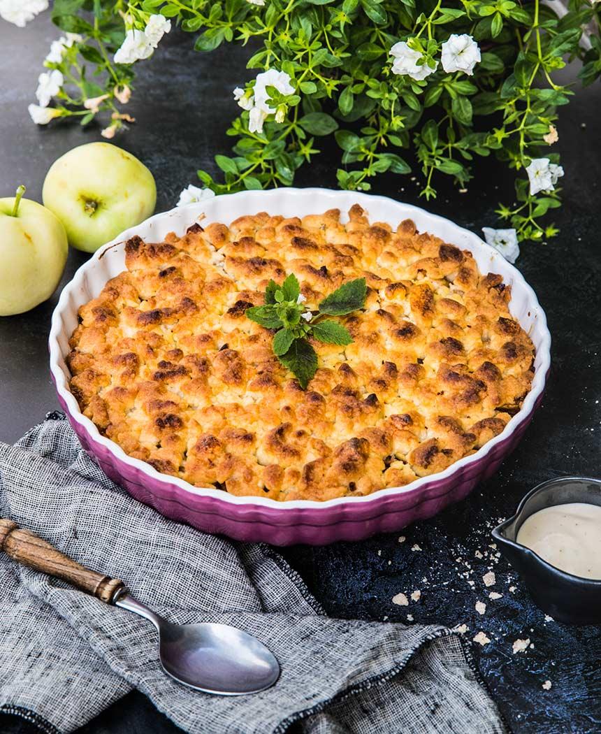 Landleys knäckiga och goda äppelpaj